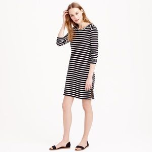J. Crew striped side zip tee shirt dress XS